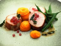 Prosciutto Wrapped Pork and Davidson Plum Flavour Pearls