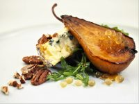 Roast Pear, Blue Cheese and Honey Flavour Pearls