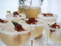 Apple and Ginger-Mint Spritz with Spiced Cranberry Flavour Pearls